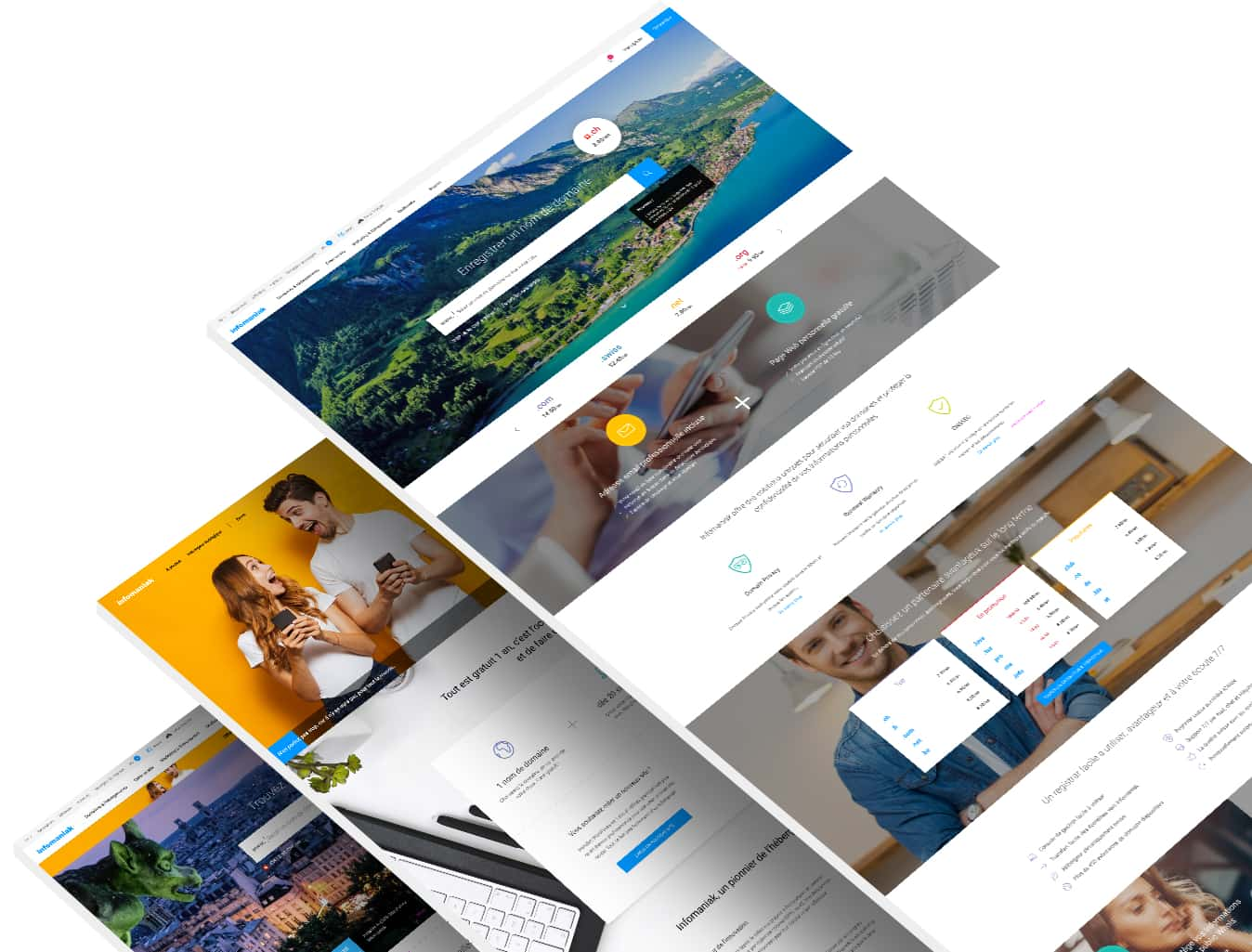 UX Design Site Infomaniak